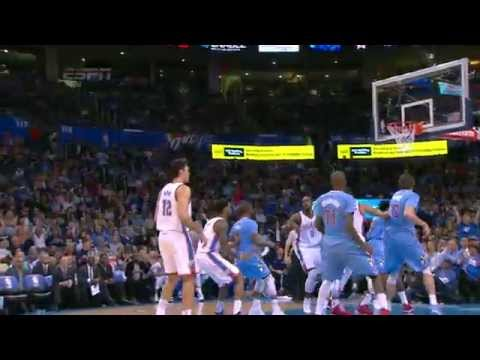 Steven Adams Sinks One-Handed Free Throw!