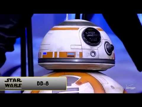 BB 8 droid from The Force Awakens rolls on stage at Star Wars Celebration Anaheim