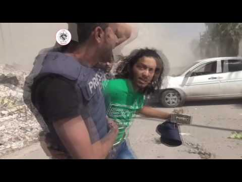 Syria, Aleppo, Miliant Activist Hadi Abdullah Injured by Aerial Bomb Today.