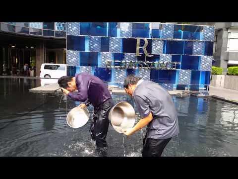 Ice bucket challenge From Renissance Bangkok Ratchaprasong