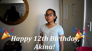 Akina 39 S 12th Birthday Life With Vicki