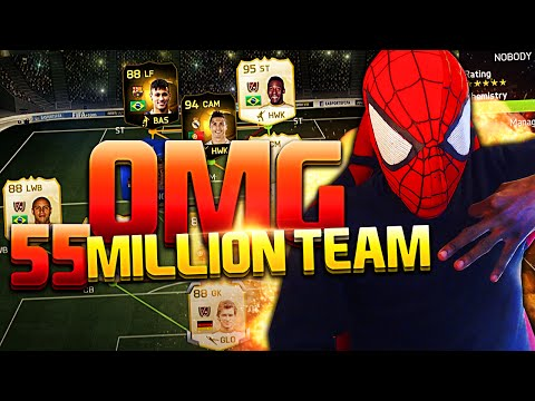 Insane 55 Million Coins Team Ft Sif Neymar,striker Ronaldo & Pele !! Fifa 15 video