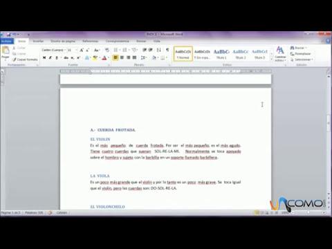 Numerar documentos Word 2010 después del índice
