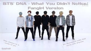 BTS' DNA Dance Practice - What You Didn't Notice/Fangirl And Fanboy Version