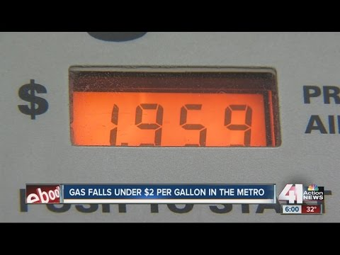 Metro gas prices drop below $2 per gallon