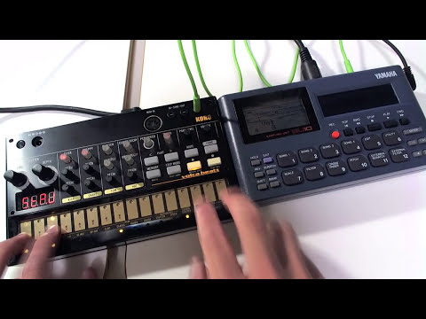 KORG volca beats(with MIDI OUT MOD)