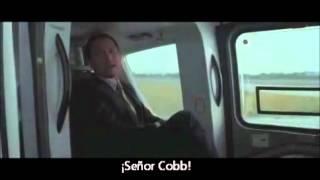 Inception scene - Saito request to Cobbs an Inception. [SPA subtitles] Poster