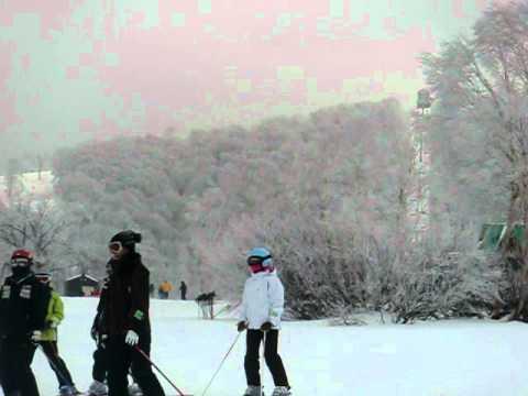 12月23日野沢温泉スキー場上ノ平ゲレンデ