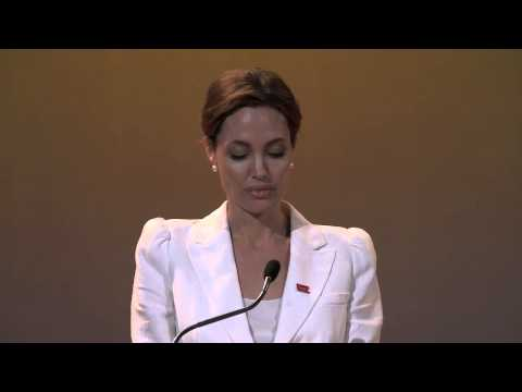 Un Special Envoy Angelina Jolie Speech At Opening Of Summit Fringe video