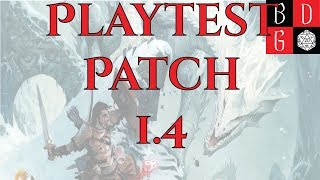 PLAYTEST RULES UPDATE 1.4 - HERITAGES ARE NOT FEATS!