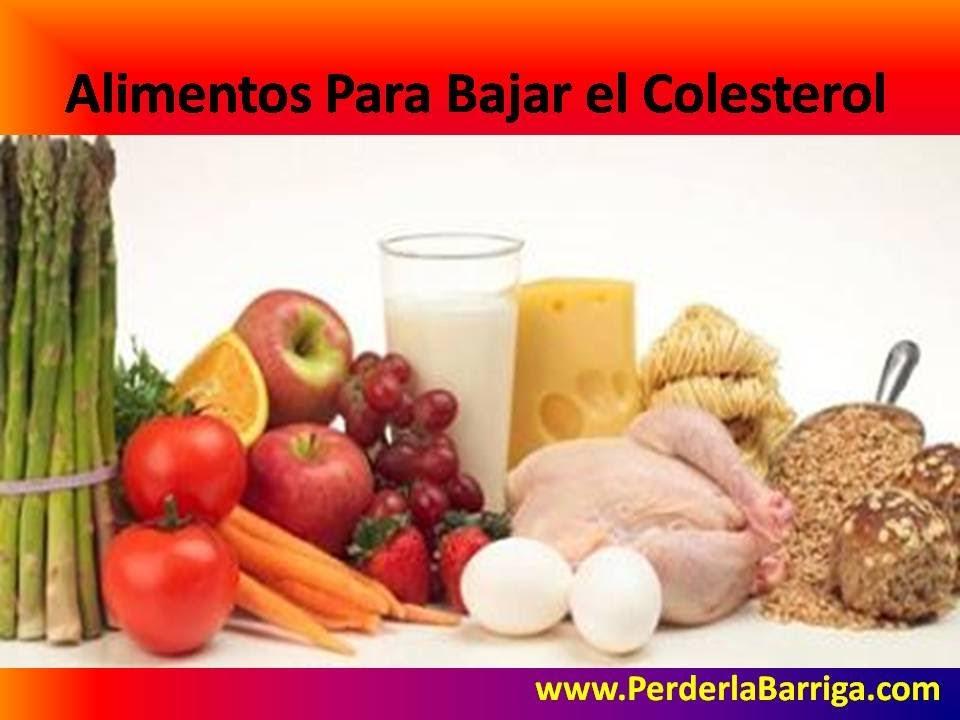 Alimentos para bajar el colesterol youtube - Alimentos a evitar con colesterol alto ...