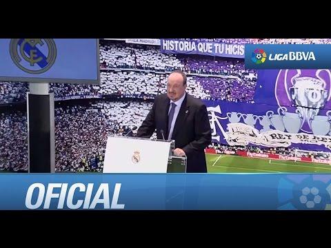 Presentación de Rafa Benítez como nuevo entrenador del Real Madrid