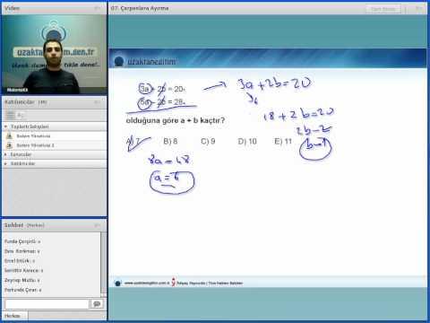 Uzaktaneğitim KPSS GY-GK Matematik örnek video ders