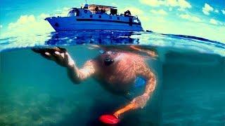 Metal Detecting! Beach And Ocean / Speed Boat Adventure! (Deteknix Scuba Tector)