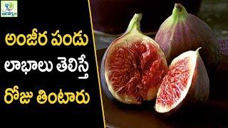 Anjeer Health Benefits - Health Tips In Telugu || Mana Arogyam
