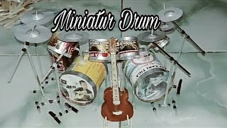 Membuat Miniatur Drum Set Dari Kaleng Bekas