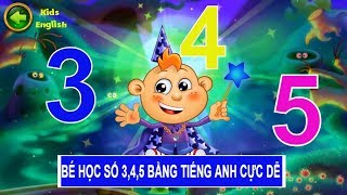 learn number for kids in english | number 3,4,5 | kids learning