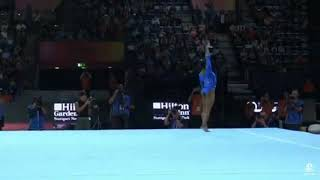 Simone biles floor 2019 world championship podium training and triple double gets named after her