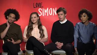 LOVE, SIMON Interview - Nick Robinson, Alexandra Shipp, Katherine Langford, Jorge Lendeborg Jr
