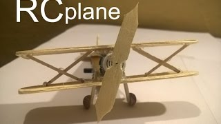how to make rc plane from popsicle stick