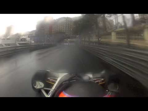Historic F1 Monaco 2012 Race Start from P3 in the wet Onboard With Ollie Hancock