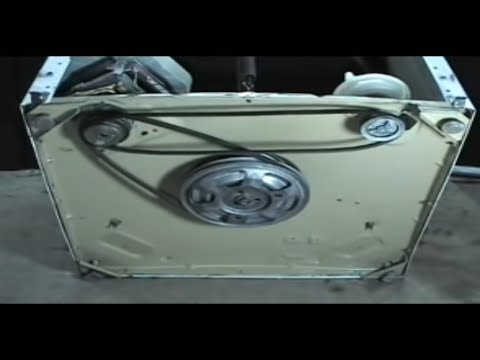 Belts replacing Maytag 2 belts top load washers - YouTube