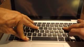 Réinitialiser NVRAM / PRAM pour MacBook (Langue des signes)