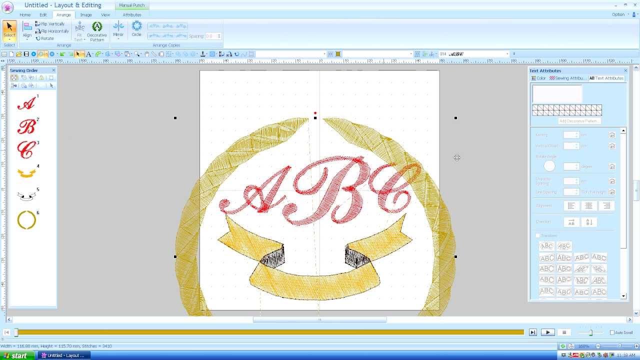 brother pe design  monogram text  lesson 15