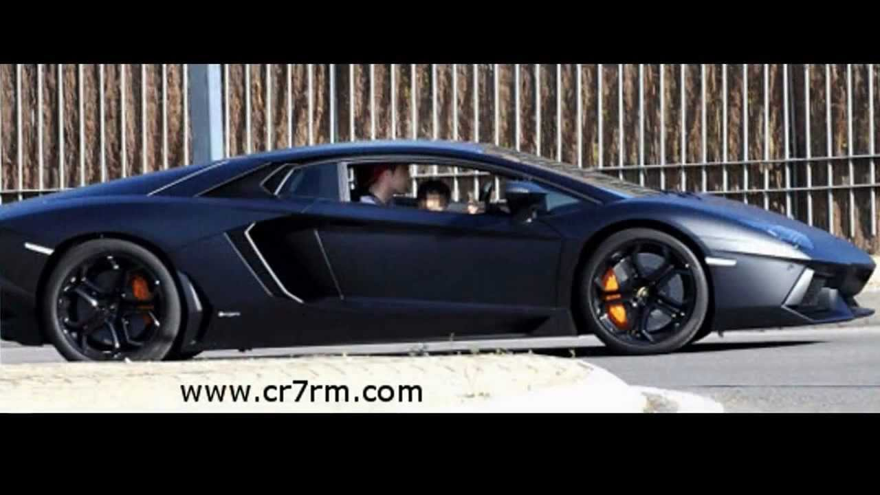 Cristiano Ronaldo In His Lamborghini Aventador Youtube