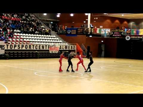 "EK rolschaatsen Almere, Celebrity - ""Bolero"" Italy"