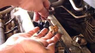 Spark plug replacement 2003 Toyota Matrix 1.8L tune up Install Remove Replace How to