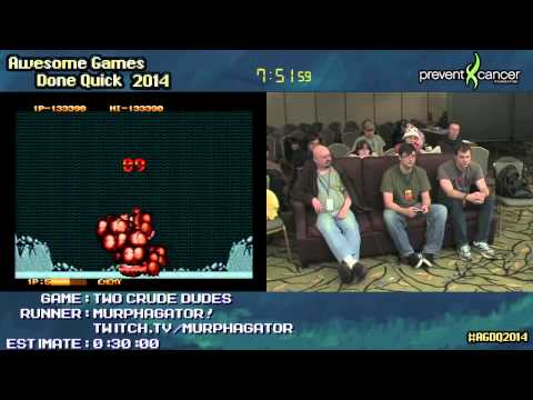 Two Crude Dudes [GEN] :: SPEED RUN Live (0:21:23) by MURPHAGATOR! #AGDQ 2014
