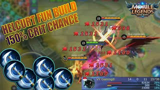 Insane Damage Helcurt Max 150% Critical Chance - Full Berserker's Fury Build (Mobile Legends Troll)