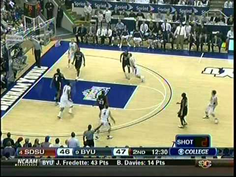 JIMMER lights up San Diego State with 43 pts!  1-26-11