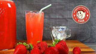 Limonada con Fresa - Como hacer Limonada - Strawberry Lemonade - El Guzii
