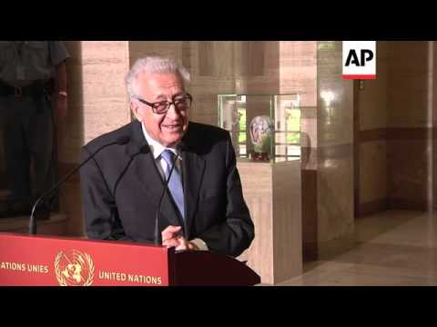 UN Syria representative Brahimi casts doubts on Syria conference in Geneva
