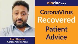 Coronavirus Recovered Patient Advice to Fight COVID-19 | Coronavirus Prevention & Symptoms