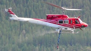 Bell 212 Helicopter Wildfire Water Pickup