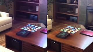 Prueba de la videocámara del iPhone 4S vs. iPhone 4 a 720p, Pantalla Dividida