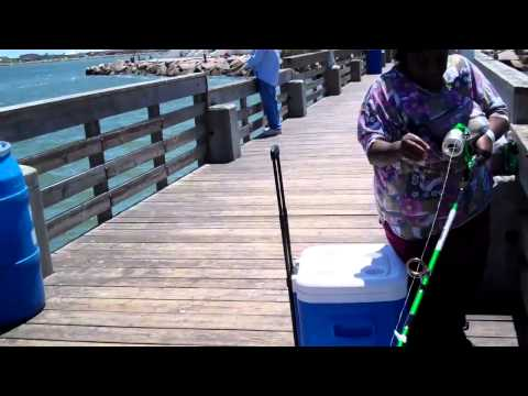 Harris County Seniors Fishing @ Seawolf Park, Galveston, Tex