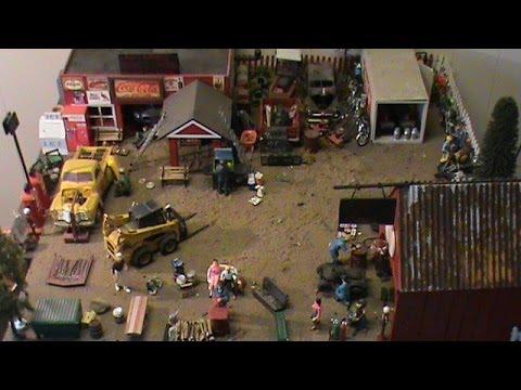 Model Car Garage Diorama Two Model Car Dioramas 1/25