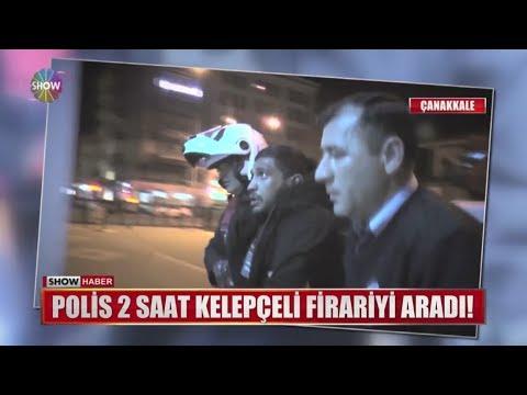 Polis 2 saat kelepçeli firariyi aradı!