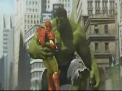 Heroes spiderman hulk ironman pelean