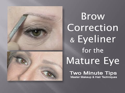 Eye makeup for older women with brown eyes