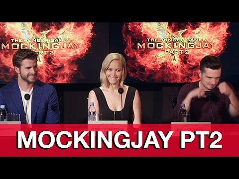 HUNGER GAMES MOCKINGJAY Part 2 Cast Interviews - Jennifer Lawrence, Josh Hutcherson, Liam Hemsworth