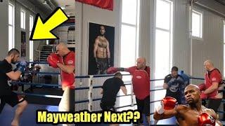 Khabib Nurmagomedov Training for Mayweather Fight - Khabib vs Mayweather Highlights