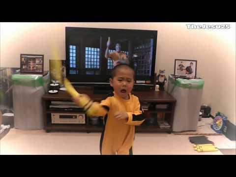 Nuevo Sucesor! Niño De 4 Años  Sucesor de Bruce Lee - que actúa Nunchaku