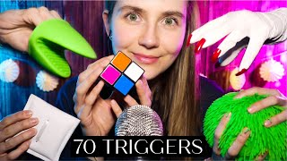 ASMR 70 Triggers in 1 Hour | For Sleep & Tingles