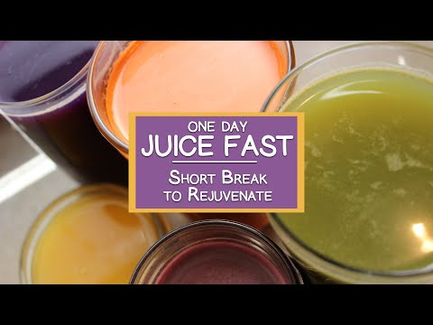 One Day Juice Fast, Take a Short Break and Rejuvenate