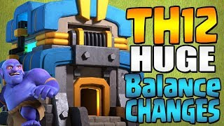 TH12 UPDATE HUGE BALANCE CHANGES COMING!!! Sneak Peak #3 | CHEAPER WALLS!? | Clash of Clans